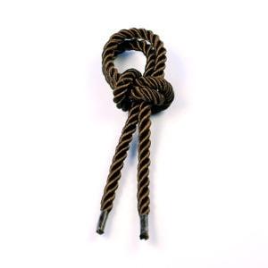 Витой шнур (Коричневый) с наконечником