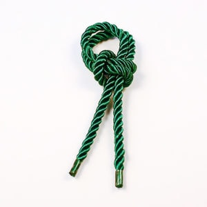 Витой шнур (Зелёный тёмный) с наконечником