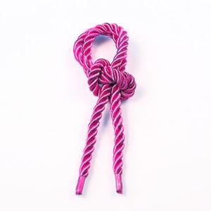 Витой шнур (Розовый) с наконечником
